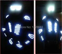 New 2014 Fashion Luminous Clothing Led Lights Costumes Clothes Suit Outfit Led Costume For Men