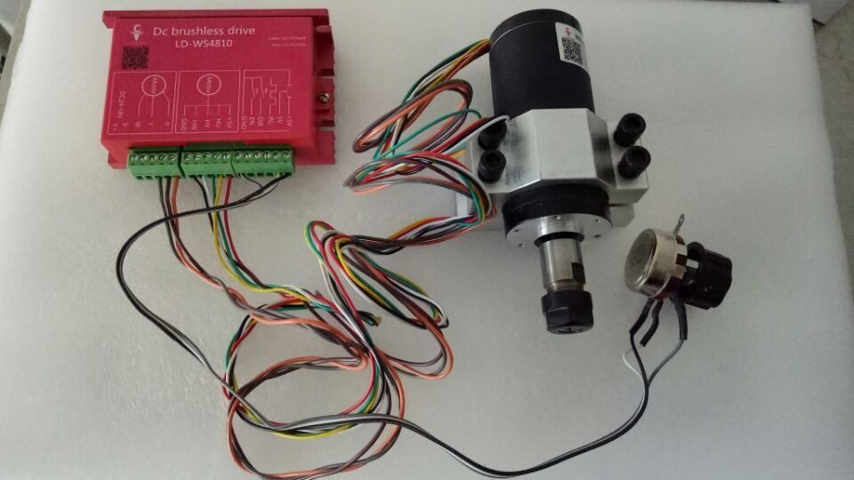 250w ER11 12000rpm Brushless DC spindle <font><b>motor</b></font>&MACH3 driver&mount <font><b>bracket</b></font> <font><b>Electric</b></font> spindle high speed brushless spindle <font><b>motor</b></font> image
