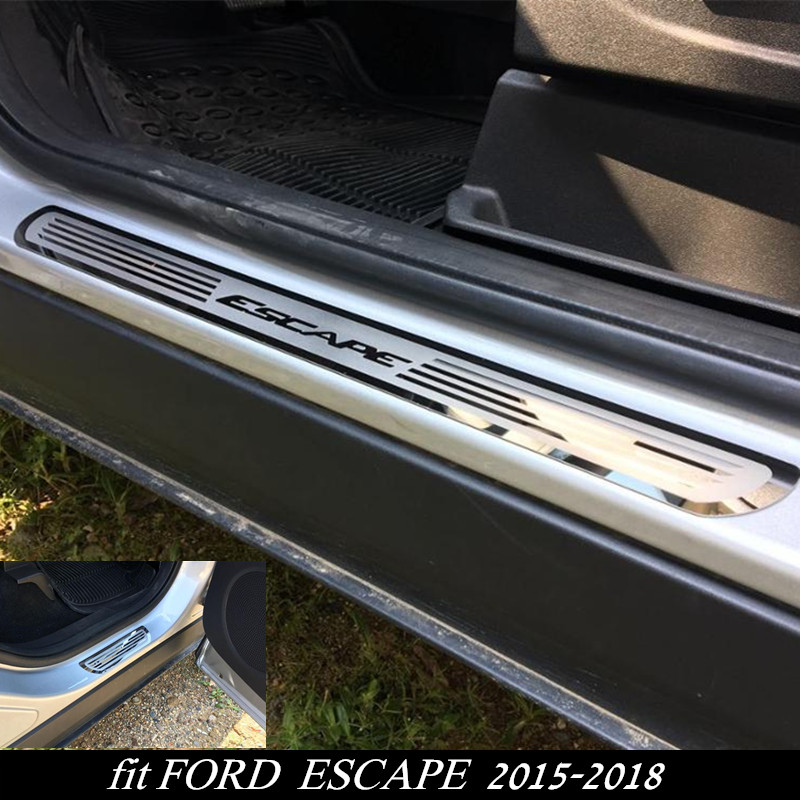 New ESCAPE Car Door Sill Plate Cover Stainless Steel Door Sill Scuff Plate for FORD ESCAPE