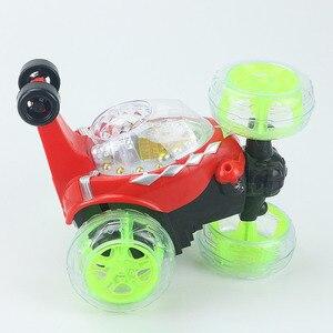 Image 5 - 電動小型 Rc カーラジオ制御車モデル点滅ライト音楽 360 度ドリフト回転タンブリング車両子供のおもちゃ