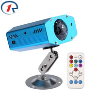ZjRight 9W IR Remote Colorful Strobe LED Stage Light Water Wave Projection Effect Lights Music Control