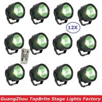 12 Units 30W LED Par Lights RGBW 4IN1 Flat LED Par Cans DMX512 Disco Lights Professional Stage Dj Lighting Equipments New Design