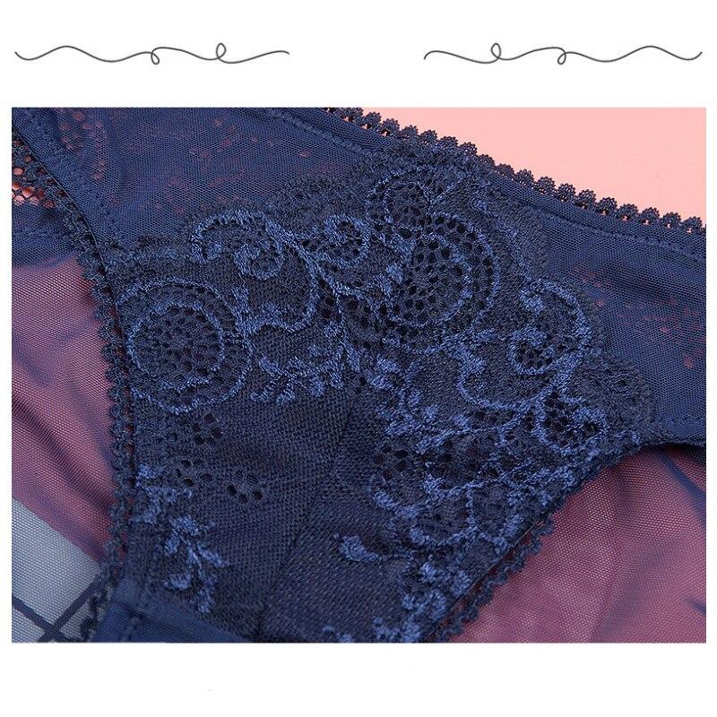 Transparent Net Yarn Sexy Low Waist Women Underwear Hollow Temptation Breathable Lady Panties Seamless Flower Calcinha Lingerie