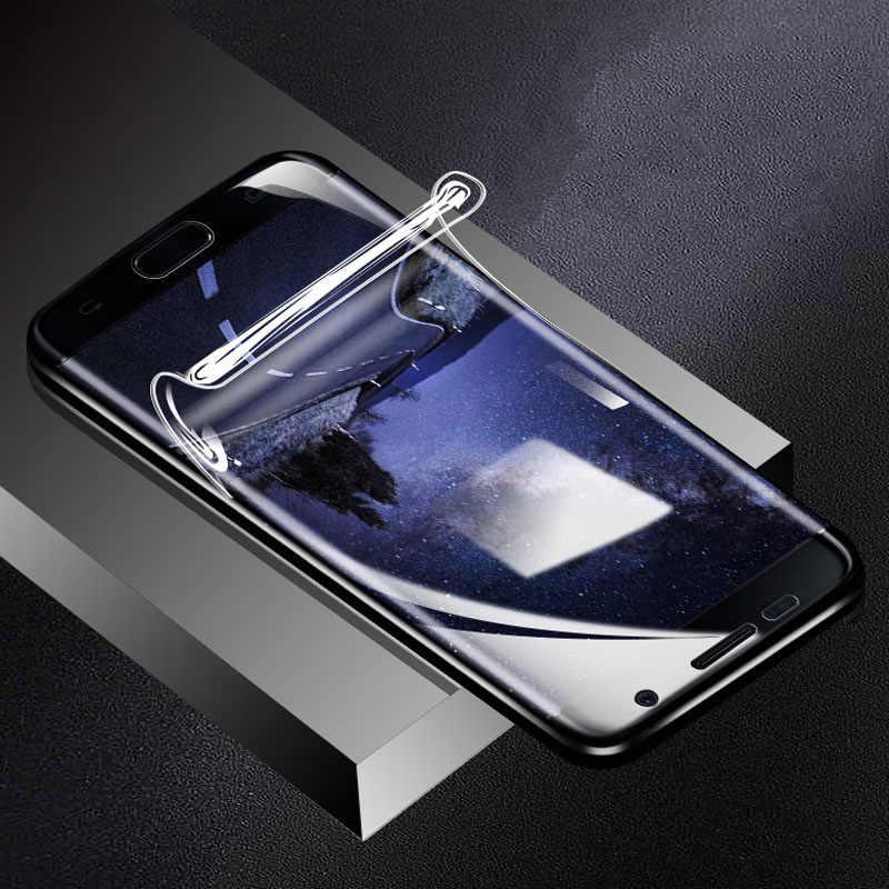 9D غطاء كامل لينة هيدروجيل فيلم لسامسونج غالاكسي نوت 8 نوت 9 S10 S8 S9 S7 S6 حافة زائد الجبهة الخلفي واقي للشاشة وليس الزجاج