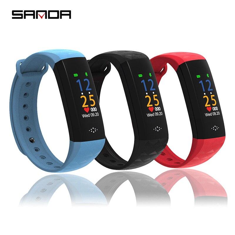 SANDA Bluetooth Smart Wristband Band Blood Pressure & Heart Rate Monitor Waterproof Fitness Bracelet Pedometer Smart Watch M12P