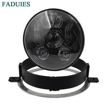 FADUIES черный/хром 5,75 светодио дный дюймов мотоцикл светодиодные фары для Honda VTX 1800/VTX 1300 5 3/4 светодио дный светодиодные фары комплект с кронштейном