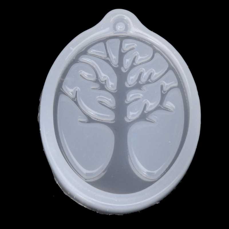 UV biżuteria z żywicy płynnego silikonu formy koniczyny dzwon drzewo ramka na zdjęcia DIY biżuteria wisiorek