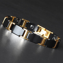 Accessories for Fashion European and American Titanium Steel Stainless Ceramic Bracelet Plated Gold Hot Pin