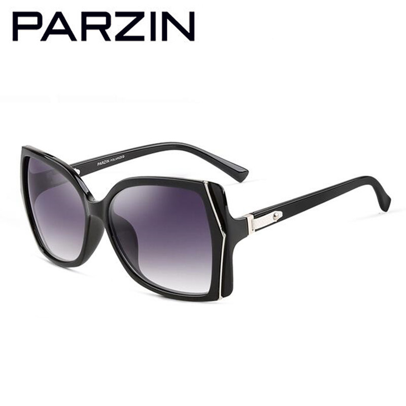 Polarisierte Fashion brown Shades 9508 Sonnenbrille Parzin Fall purple white Box Black Big Frauen Mit maroon xXCRCwqEZ