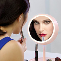 High Quality USB Charged 2 in 1 Make Mirror Table Lamp LED Light Make Up Desktop Intelligent Mirror Durable Beauty Tool