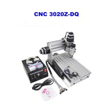 3 Axis 3020Z-DQ CNC Router Engraver Cutting Machine CNC 3020 with Ball Screw + 20x 3.175mm 1/8″ Tungsten Carbide Cutter 1 PC