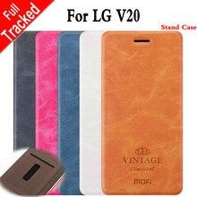 Для LG V20 Откидная Крышка Mofi Роскошный Старинный Кожаный Бумажник чехол Для LG V20 Бизнес Книга Стиль Крышку Сотового Телефона МФ3