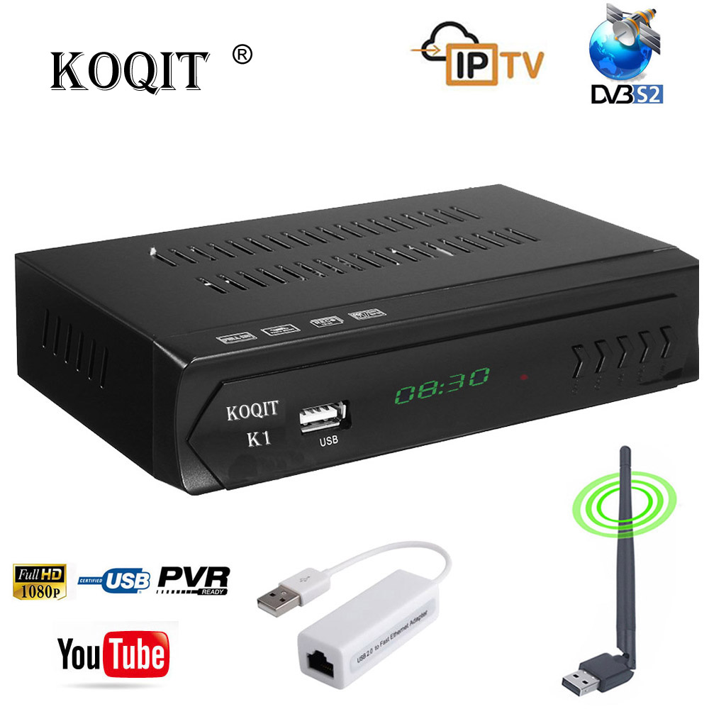 Récepteur numérique DVB S2 décodeur Satellite récepteur Satellite gratuit récepteur tv Box tuner DVB-S2 détecteur Satellite IPTV Youtube Wifi Biss/Vu/Cccam