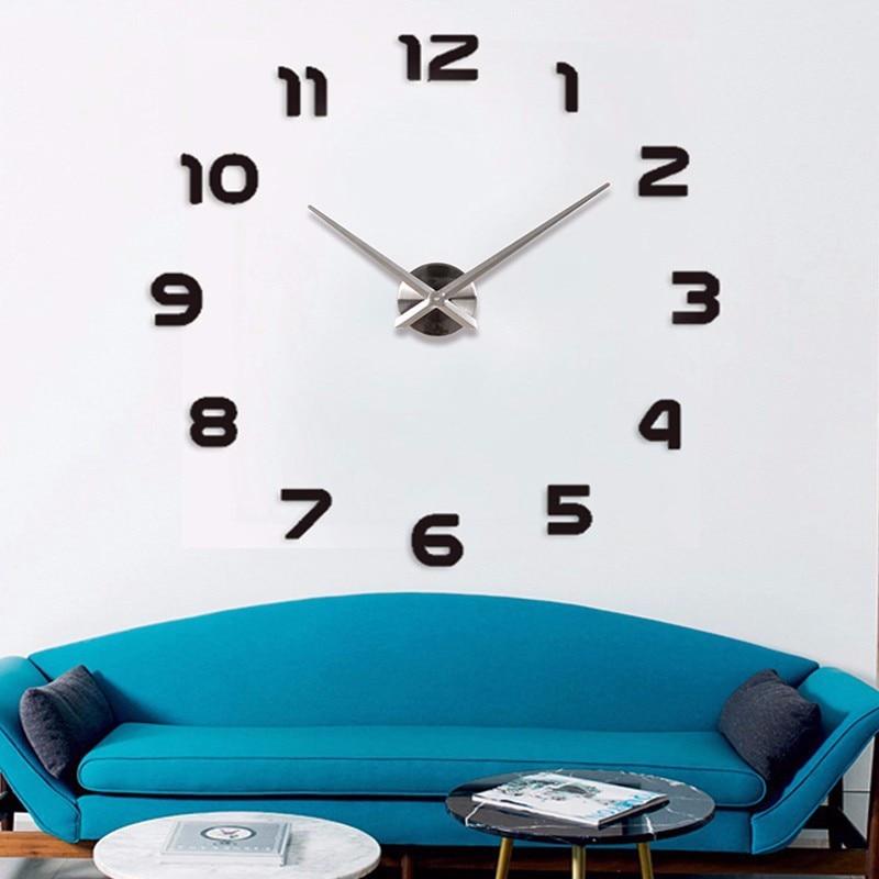 201.9 नई फैशन 3 डी बड़े आकार की दीवार घड़ी दर्पण स्टीकर DIY दीवार घड़ियाँ घर की सजावट दीवार घड़ी बैठक कक्ष