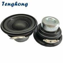 Tenghong 2 adet 2 inç Mini Subwoofer 52MM 20 çekirdekli Bluetooth hoparlörler 4/8Ohm 10W taşınabilir ses bas hoparlör Robot hoparlör