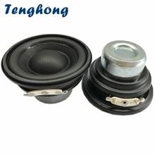Tenghong 2pcs 2 Inch Mini Subwoofer 52MM 20 Core Bluetooth Speakers 4/8Ohm 10W Portable Audio Bass Speaker For Robot Loudspeaker