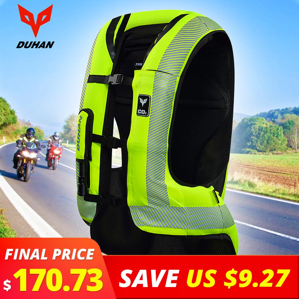 DUHAN Motorcycle Air bag Moto Motorcycle Vest Advanced Air Bag System Protective Gear Reflective Motorbike Airbag Moto Vest #