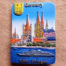 Germany Berlin Cologne Cathedral Tour Memorial hand resin embossed refrigerator stickers