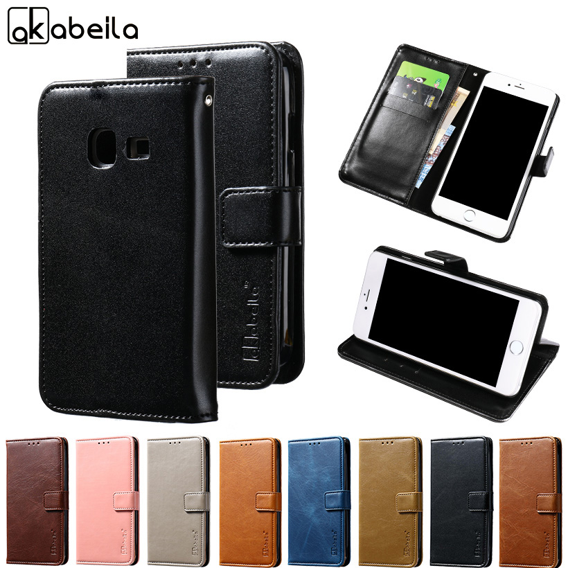 AKABEILA Wallet Leather Case for Samsung J1 Nxt J1 MiNi 2016 J105 4.0 inch Phone Cover Card Hold For SM-J105F DS Duos 4G LTE
