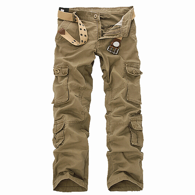 SAF-New Casual Men's Pants Military Army Camo Combat Work Trousers Khaki