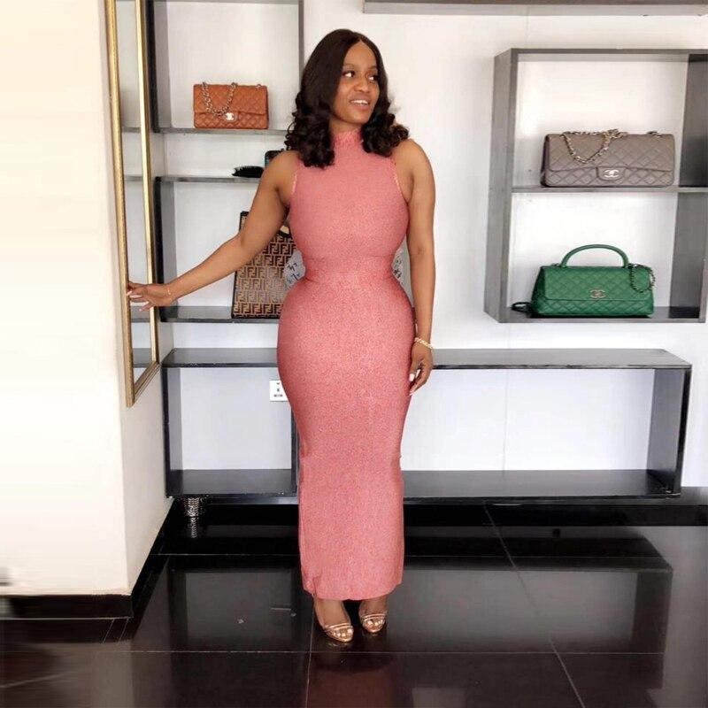 Femmes Rouge Modèle Qualité Robes En Manches Gros Foncé Sans Bleu 2018 Partie Rose Haute D'été Bandage Nouveau Robe De Blanc Longue yb7fY6g