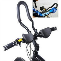 Road Bike Bending The Handle Handlebar Seatpost Diameter Bicycle Aerobar TT Put Alloy Triathlon Arm Rest Black