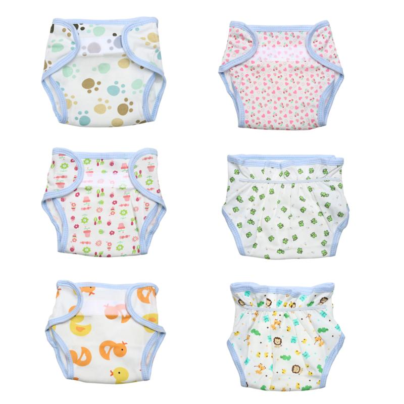 New Newbron Cute Baby Diapers Reusable Nappies Cloth Diaper Washable Children Baby Cotton Training Pants Panties Nappy Changing