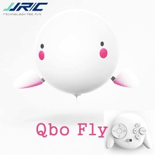 Cute JJRC H80 Qbo Fly Remote Control Helium Balloon Robot Toys 30mins Flight Time 2.4G RC Quadcopter RTF Girls Gift Pink jjr c h80 qbo fly 2 4g rc safe remote control inflatable bubble helium balloon baymax dance robot toys for children kids gift