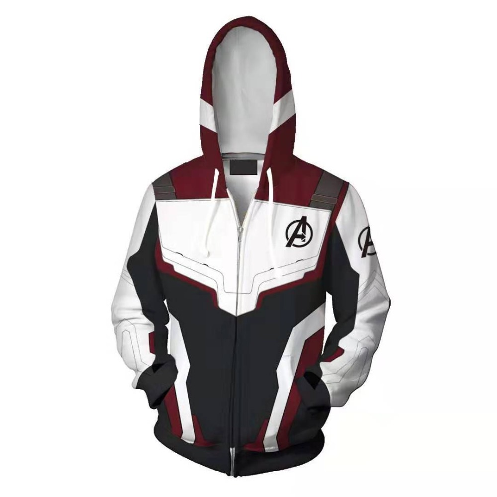 Avengers Endgame Quantum Realm Sweatshirt Jacket Advanced Tech Hoodie Cosplay Costumes 2019 new superhero Iron Man Hoodies suit