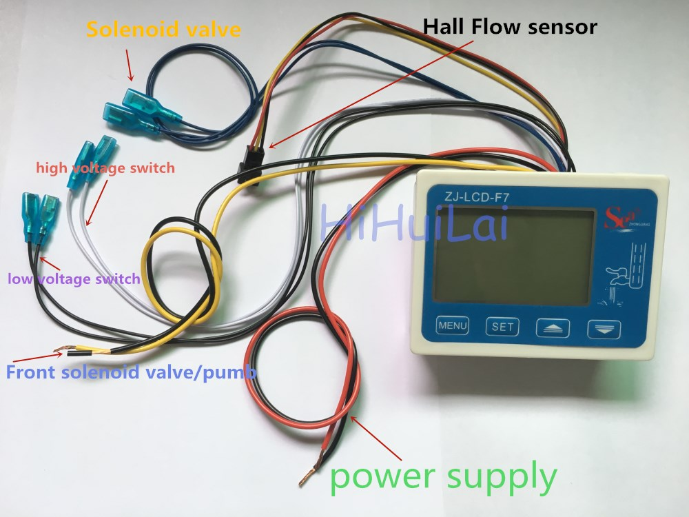 US $26.86 32% OFF|ZJ LCD F7 flow meter digital display filter controller on