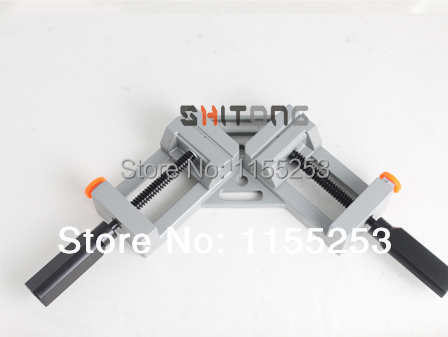 ФОТО NEW Style Double handle 90 Degrees Angle Clamp Right Angle Woodworking Frame Clamp Angle clip clamp aluminum alloy frame type