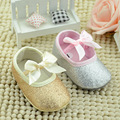Flash Gold Bow Burst Models Princess Girls Shoes Baby Toddler Shoes Gold Silver Comfortable Soft-soled Shoes