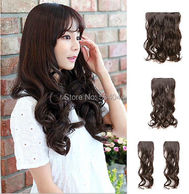 "16""-32"" Body Wavy 1Pcs Set Single Hairpieces 100% Brazilian Human Hair Clips In/on Extensions #2 Dark Brown  80g100g120g140g160g"