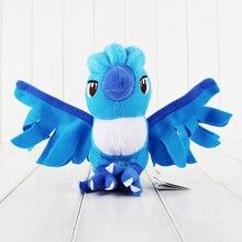 10Pcs/Lot Cartoon Plush Toy 7″ Articuno Plush Toy Cute Character Ice Bird Stuffed Animals Dolls Kids Gift