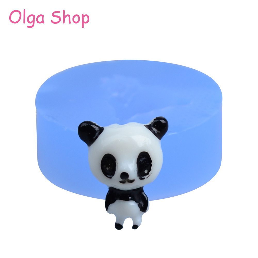 3d Silicone Mold Fake Sweet Mould Dyl086 3d Panda Silicone Moulds Cake 18mm Bakeware Candle Polymer Clay Sugarcraft Molds