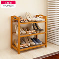 FREE Shipping 3 Tier Solid Wood Shoe Cabinet Nan Bamboo Shoe Racks Simple Shelves Shelves Flower Racks
