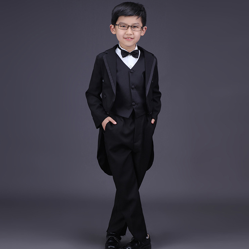 Boys Suits for Wedding Kids Black Prom Suits Children Wedding ...
