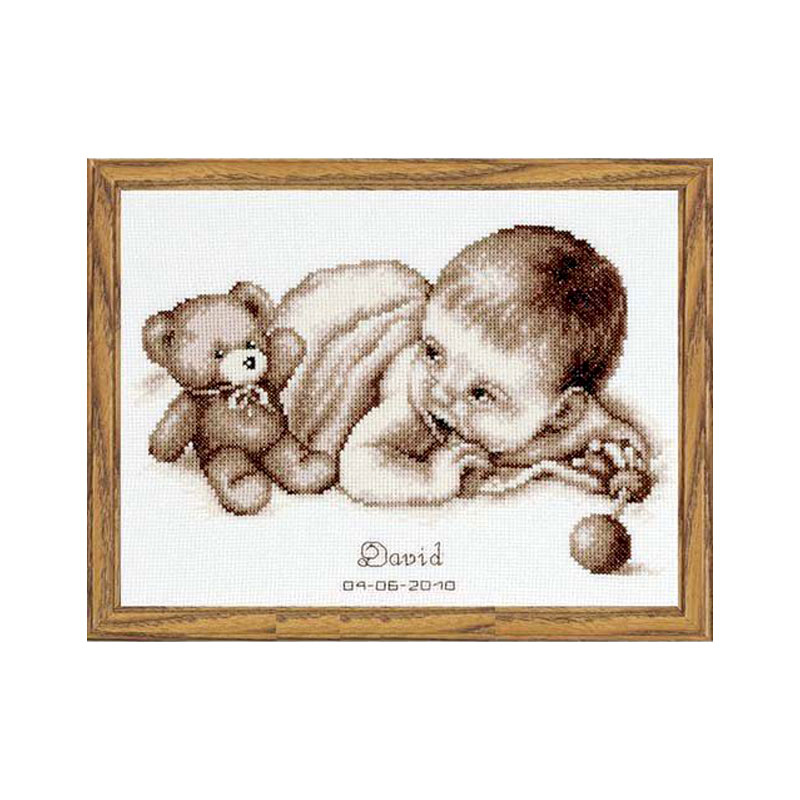 Fishxx Cross-Stitch Kits A906 Cartoon Baby Paintings Sets Embroidery 100% Egyptian Cotton Homeware Craft On Needlework Diy Kit