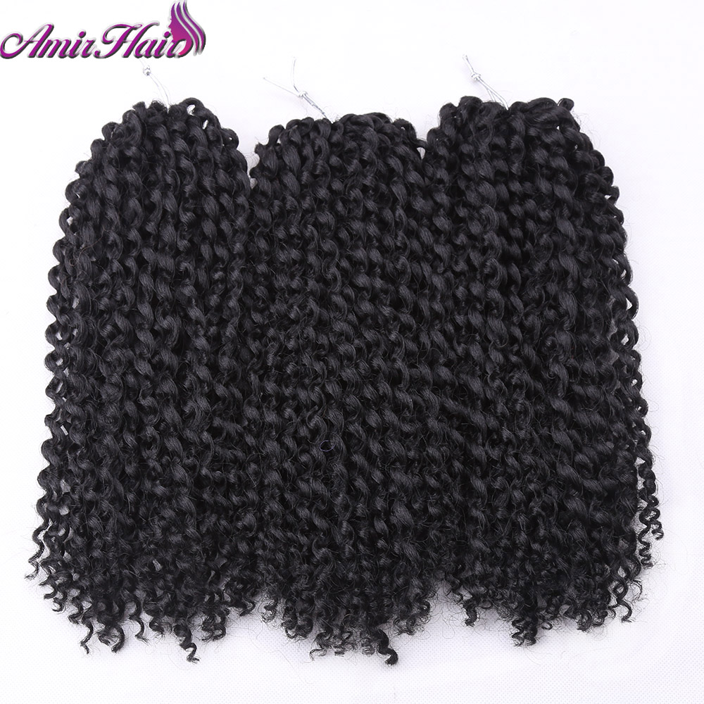 Amir Ombre Black Wine Red 3 sets ,3pcs/Pack12 Inch Synthetic Crochet Braids Hair Marly Braids Jumbo Braids Hair Extensions