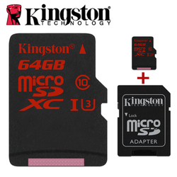Kingston microSDHC/SDXC UHS-I U3 90R/80W micro sd 16gb 32gb 64gb 2K 4K DSLR DSLM video memory tf memory card