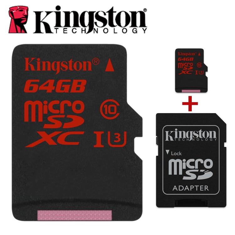 лучшая цена Kingston microSDHC/SDXC UHS-I U3 90R/80W micro sd 16gb 32gb 64gb 2K 4K DSLR DSLM video memory tf memory card