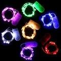 2 M 20 LED de Hadas de la Luz de Tira Impermeable Colorido Alambre de Plata Del Banquete de Boda de Navidad Decoración de la Secuencia del LED Luz de La Batería