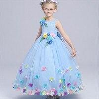 Brand New Luxurious Dress Aurora Princess Dress Kids Baby Girls Princess Floral Dress Elsa Anna Party