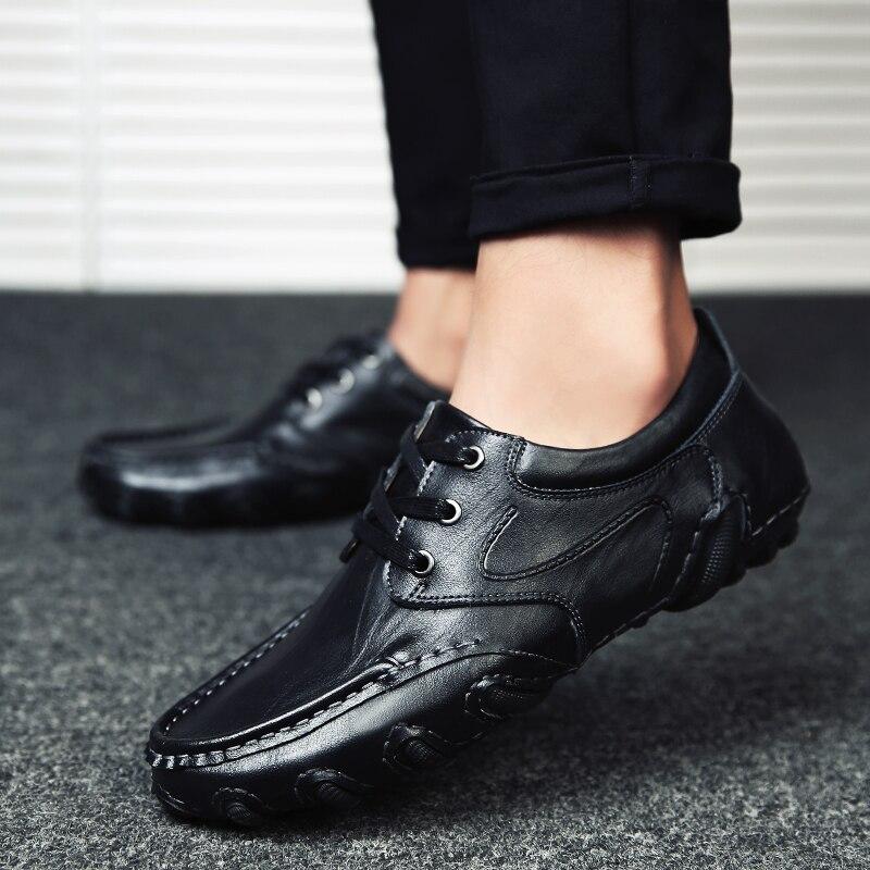 Printemps En Lacets Pour Noir Et Travail Black Brun Confortable Chaussures Respirant Cuir Hommes Kaki Homme Mode khaki Eté Décontracté À red De Brown WeH2bED9IY
