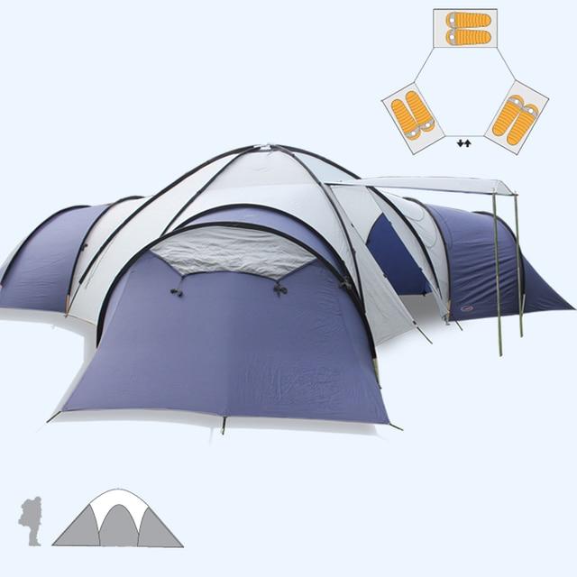 Big C&ing tent 8-10 people 3 rooms Anti-rainstorm Family Travel Tent Can & Big Camping tent 8 10 people 3 rooms Anti rainstorm Family Travel ...