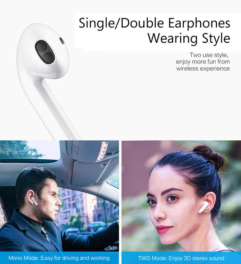 I9s Mini TWS bezprzewodowe słuchawki Bluetooth Stereo zestaw słuchawkowy obustronne otrzymać telefon zwrotny od z pudełkiem ładowania Mic dla wszystkie telefony PK i7s tws