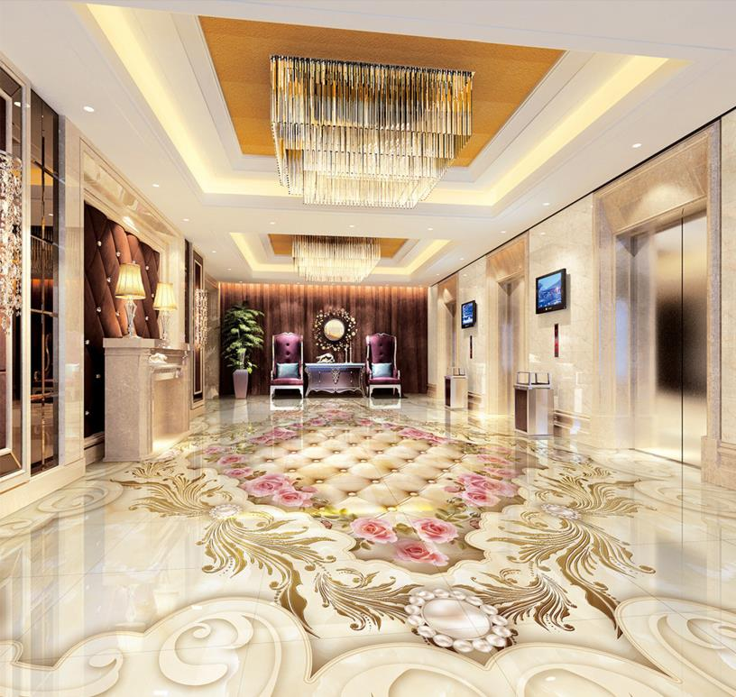 Popular marble medallion floor buy cheap marble medallion for Kitchen wallpaper 3d