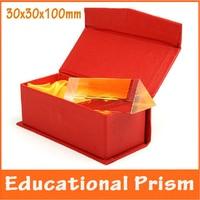 3x3x10 센치메터 교육 물리학 광학 유리 학교 과학 실험 교육 에이즈 생일 선물 삼각 프리
