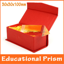 3x3x10cm Educational Physics Optical Glass School Science Experiment Teaching Aids Birthday Gift for Children Triangular Prism
