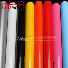 1.52*5m/10m/15m/20m/30m Glossy Vinyl Film Glossy Vinyl Sticker Glossy car Bright Car Warp Sticker With Bubble Free
